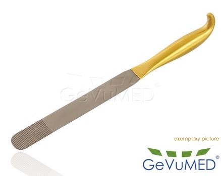 Brust-Spatel - mit Griff - halbstarr - Arbeitsende 25 mm x 18,5 cm - Länge 12-1/2 - 31,5 cm
