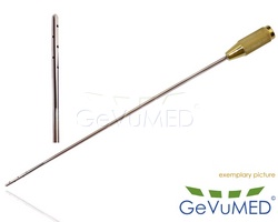 Fettabsaugungs - Liposuktion - Kanüle - 10 Löcher - jedes Loch Ø 1,0 mm - für Infiltration - Durchmesser Ø 3 mm - Arbeitslänge 10 - 25 cm