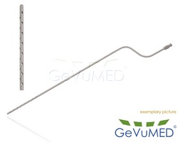ENTNER Fettabsaugungs - Liposuktion - Kanüle - bajonettförmig - Luer-Lock Anschluss - Durchmesser Ø 3,0 mm - Drm. Löcher Ø 1,5 mm - Löcher 30 - Arbeitslänge 12 - 30 cm