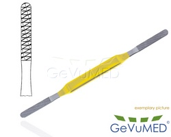 FOMON Nasenraspel TC 21 cm - 8-1/4 - doppelendig Fig. 1/2 - Teil. 0,8 mm/1,1 mm