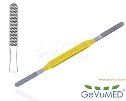FOMON Nasenraspel TC 21 cm - 8-1/4 - doppelendig Fig. 7/8 - Teil. 2,4 mm/2,6 mm